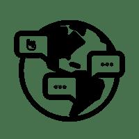 Multilingual icon