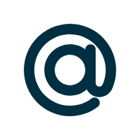 AT Symbol in Dark Blue to Indicate Email