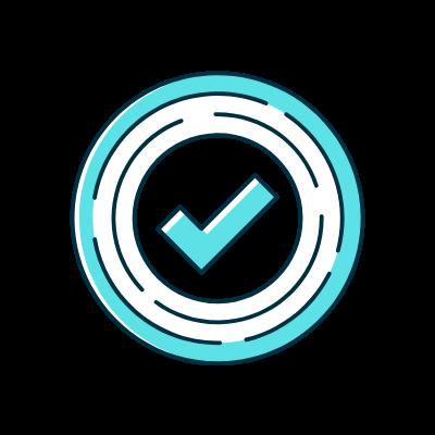 Bright Green Checkmark Icon