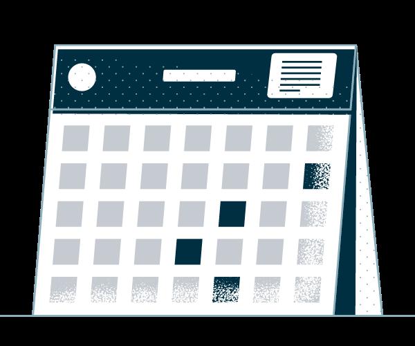 Dark Blue and Gray Calendar Image Icon