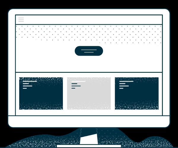 Dark Blue and Gray Desktop Computer Image